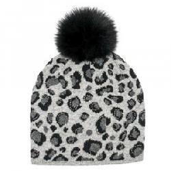 Peter Glenn Animal Print Hat with Fox Pom (Women's)