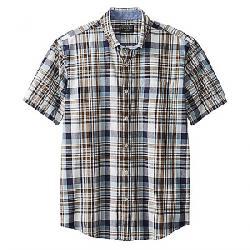 Pendleton Men's Madras SS Shirt Blue/Brown Plaid