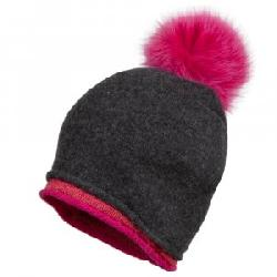 Peter Glenn Double Knit Hat with Fox Fur Pom (Women's)