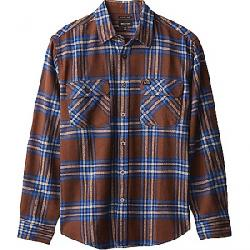 Brixton Men's Bowery L/S X Flannel Shirt Washed Brown/Mineral Blue