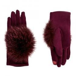 Peter Glenn Knitted Glove with Fox Fur (Women's)
