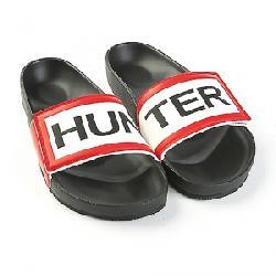 Hunter Men's Orginal Adjustable Logo Slide Black