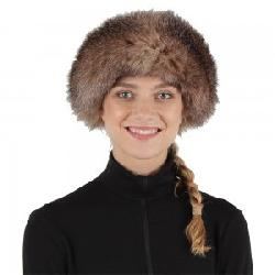 Peter Glenn Leather Hat with Fur Trim (Women's)