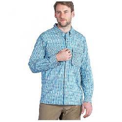 ExOfficio Men's Air Strip Micro Plaid LS Shirt Riviera