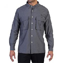 ExOfficio Men's Air Strip Long Sleeve Shirt Dark Pebble