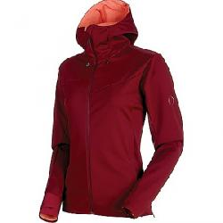 Mammut Women's Ultimate V SO Hooded Jacket Merlot / Barberry Melange