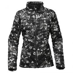 The North Face Women's ThermoBall Full Zip Jacket TNF Black Late Bloomer Print