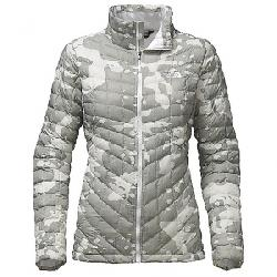The North Face Women's ThermoBall Full Zip Jacket TNF White Woodchip Print