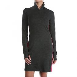 Icebreaker Women's Affinity Dress Jet Heather / Pop Pink / Jet Heather
