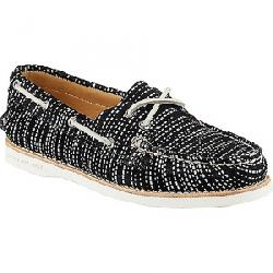 Sperry Women's Authentic Original Seasonal Shoe Black / White Snake