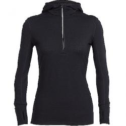 Icebreaker Women's Rush LS Half Zip Hood Black