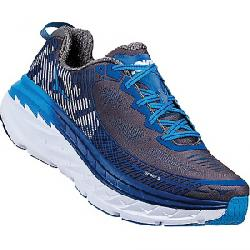 Hoka One One Men's Bondi 5 Shoe Charcoal Grey / True Blue