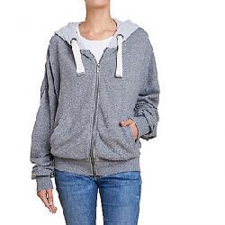 Splendid Women's Shirred Zip Hoodie Heather Grey