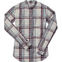 Filson Women's Shelton Banded Collar Shirt Gray / Blue / Plum Plaid