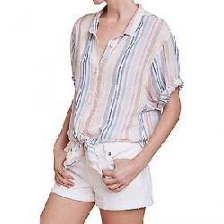 Splendid Women's Boyfriend SS Shirt Multi Stripe
