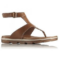 Sorel Women's Torpeda Ankle Strap Sandal Camel Brown / Ancient Fossil