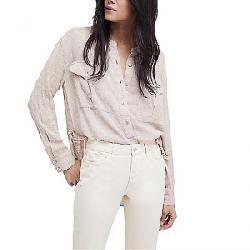 Free People Women's Talk to Me Buttondown Shirt Light Grey
