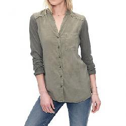 Splendid Women's Front Pocked LS Shirt Vintage Army