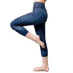 Vie Active Women's Rockell 3/4 Crop Legging Navy Leopard