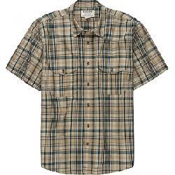 Filson Men's Short Sleeve Feather Cloth Shirt Khaki / Olive / Blue Plaid