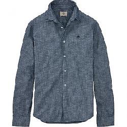 Timberland Men's Mumford River Chambray Polkadot LS Shirt Dark Sapphire Print