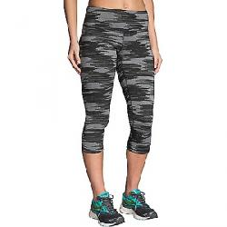 Brooks Women's Greenlight Capri Black Ikat Jacquard
