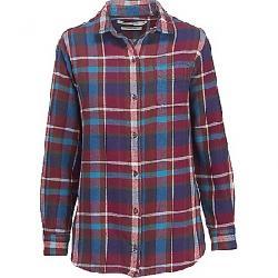 Woolrich Women's Oxbow Bend Eco Rich Boyfriend Shirt Purple Plumeria Multi