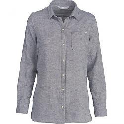 Woolrich Women's Oak Park Eco Rich Twill Shirt Neptune Herringbone