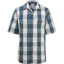 Woolrich Men's Keep it Moving Modern Fit SS Shirt Dark Slate Check