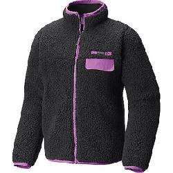 Columbia Youth Mountain Side Heavyweight Full Zip Fleece Jacket Black / Crown Jewel