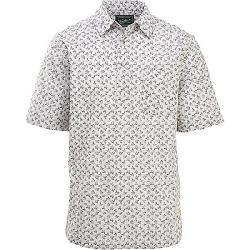 Woolrich Men's Echo Rich Midway Printed Shirt Salt Stone Campfire