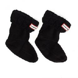 Hunter Kids' 6 Stitch Cable Boot Sock Black