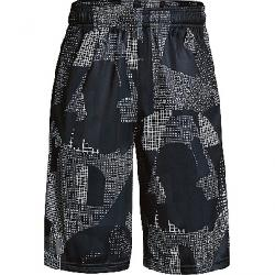 Under Armour Boys' UA Stunt Printed Short Overcast Grey / Black / Graphite