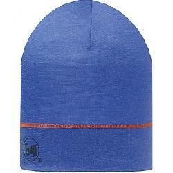 Buff Merino Wool Beanie Blue Ink