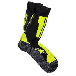 Alpine Stars Men's Crew Sock Black / Acid Yellow