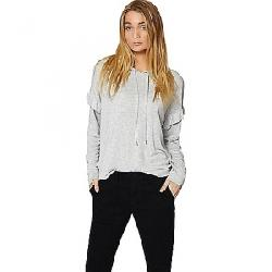 Sanctuary Women's Audra Ruffle Hoodie Heather Grey