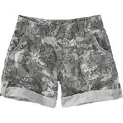 Carhartt Women's Relaxed Fit EI Paso Printed 9 Inch Short Asphalt