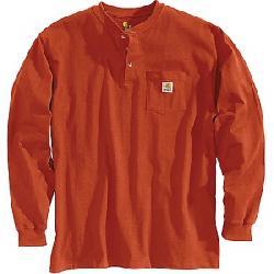 Carhartt Men's Workwear Pocket Long Sleeve Henley Top Chili