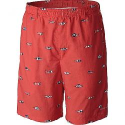Columbia Men's Backcast II Printed 8IN Short Sunset Red / Americana Fish Flag