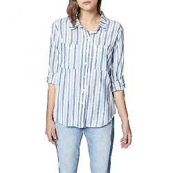 Sanctuary Women's Steady Boyfriend Shirt Indigo Stripe
