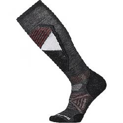 Smartwool PhD Ski Light Sock Charcoal Pattern