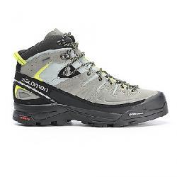 Salomon Men's X Alpine Mid Leather GTX Boot Shadow / Castor Gray / Lime Punch
