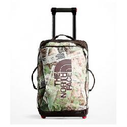 The North Face Rolling Thunder 22IN Wheeled Luggage TNF White Topo Map Print / Vintage White