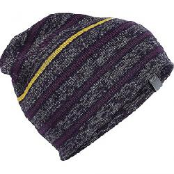 Icebreaker Atom Hat Gritstone Heather / Burgundy Heather / Eggplant