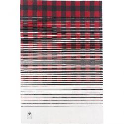 Woolrich Buffalo Fade Out Jacquard Blanket Red