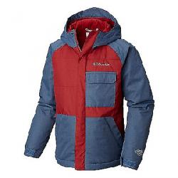 Columbia Youth Boys Casual Slopes Jacket Red Element / Dark Mountain Heather