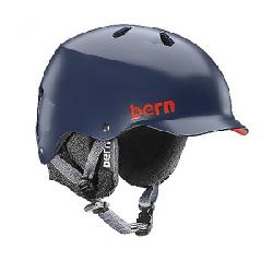 Bern Men's Watts EPS Helmet w/ 8Tracks Audio Matte Navy Blue