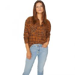 Sanctuary Women's Boyfriend For Life Shirt Autumn Caramel Plaid