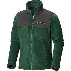 Columbia Youth Boys Steens Mountain Novelty Full Zip Fleece Jacket Forest / Grill