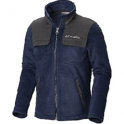 Columbia Youth Boys Steens Mountain Novelty Full Zip Fleece Jacket Collegiate Navy / Grill